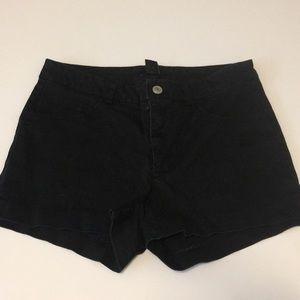 H&M Black High Waist Shorts